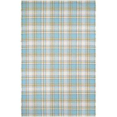 Bar Harbor Cape Plaid Cornflower-Natural 2 ft. x 3 ft. Area Rug