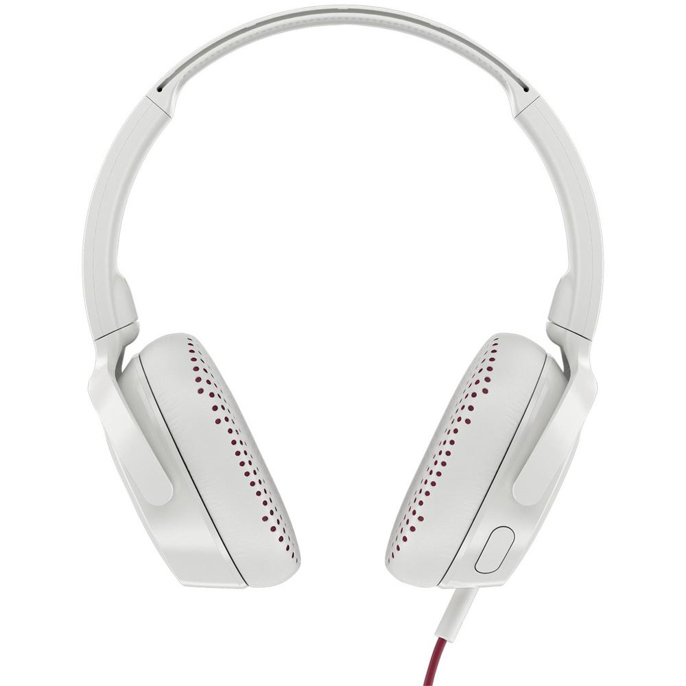 Riff On-Ear Wired Headphones with Microphone in White Riff On-Ear Wired Headphones with Microphone in White