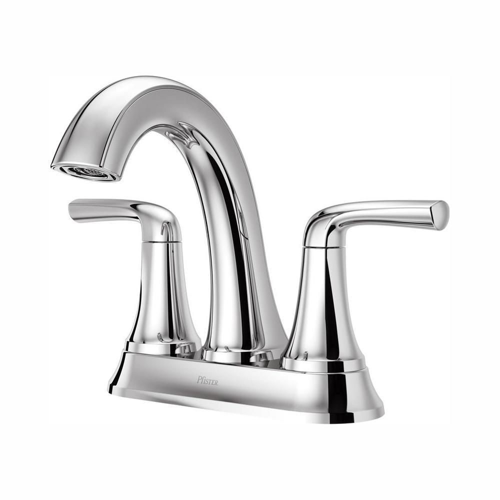 Pfister Ladera 4 in. Centerset 2-Handle Bathroom Faucet in Polished Chrome