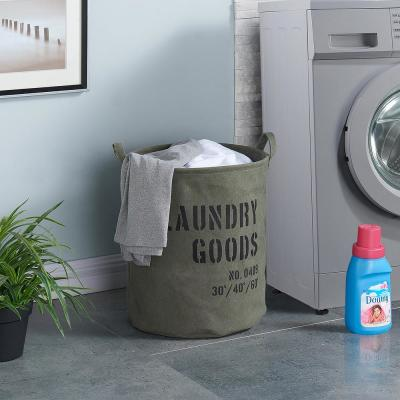 Army Canvas Laundry Bucket