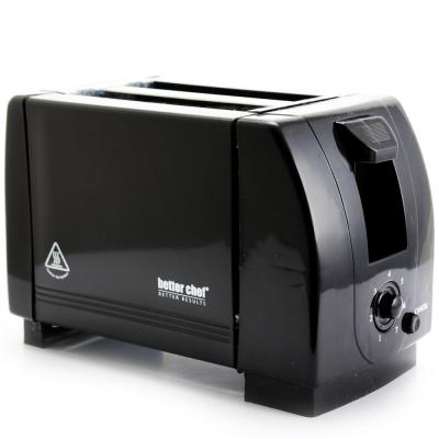 2-Slice Black Wide Slot Toaster