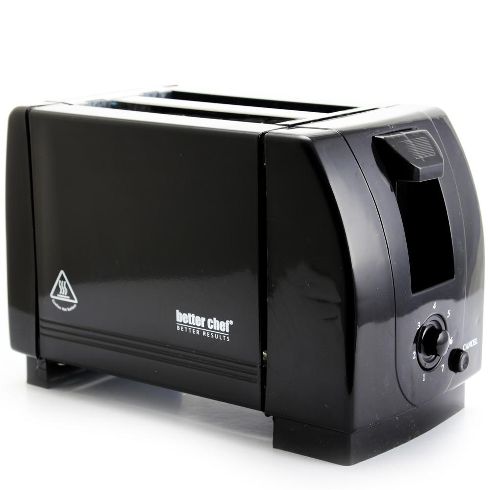 2-Slice Black Wide Slot Toaster