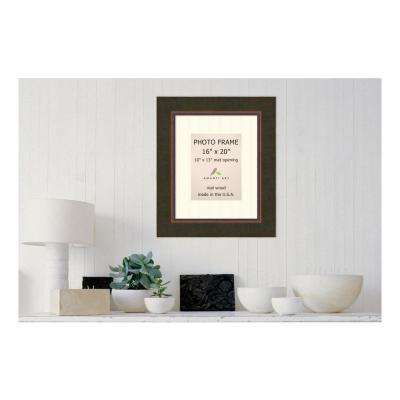 Milano 10 in. x 13 in. White Matted Bronze Picture Frame