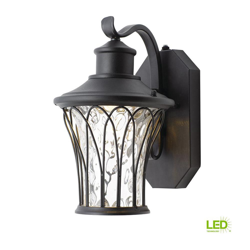 Home Lighting Collections: Home Decorators Collection Black Outdoor LED Dusk To Dawn