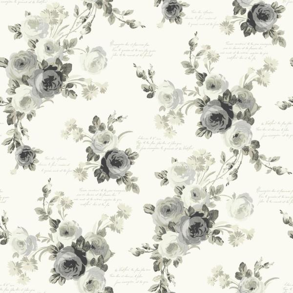 56 sq. ft. Magnolia Home Heirloom Rose Removable Wallpaper
