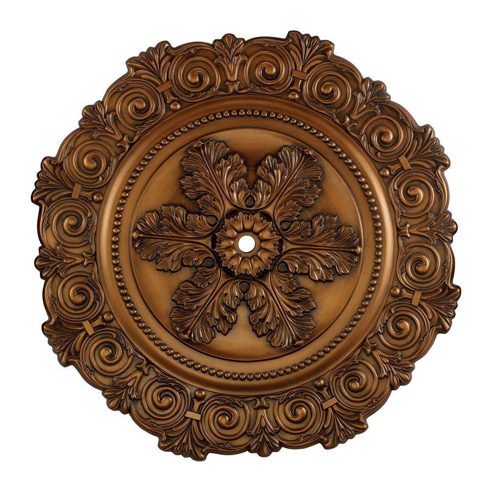 Titan Lighting Marietta 33 in. Antique Bronze Ceiling Medallion