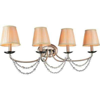 Paulie 4-Light Satin Nickel Sconce