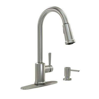 Indi Single-Handle Pull-Down Sprayer Kitchen Faucet with Reflex, Power Clean, and Microban in Spot Resist Stainless