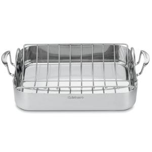 Deals on Cuisinart MultiClad Pro 6 Qt Stainless Steel Roasting Pan w/Rack