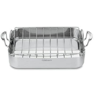MultiClad Pro 6 Qt. Stainless Steel Roasting Pan with Rack