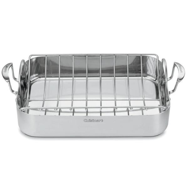 Cuisinart MultiClad Pro 6 Qt. Stainless Steel Roasting Pan MCP117-16BR