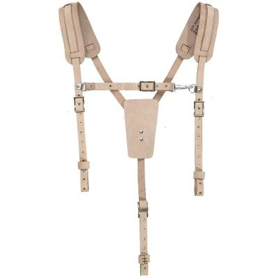 Soft Leather Work Belt Suspenders