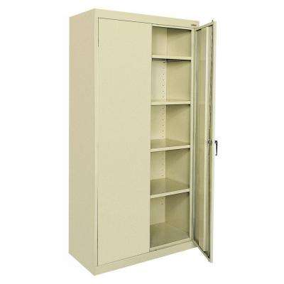 Classic Series 72 in. H x 36 in.W x 18 in. D Steel Freestanding Storage Cabinet with Adjustable Shelves in Putty