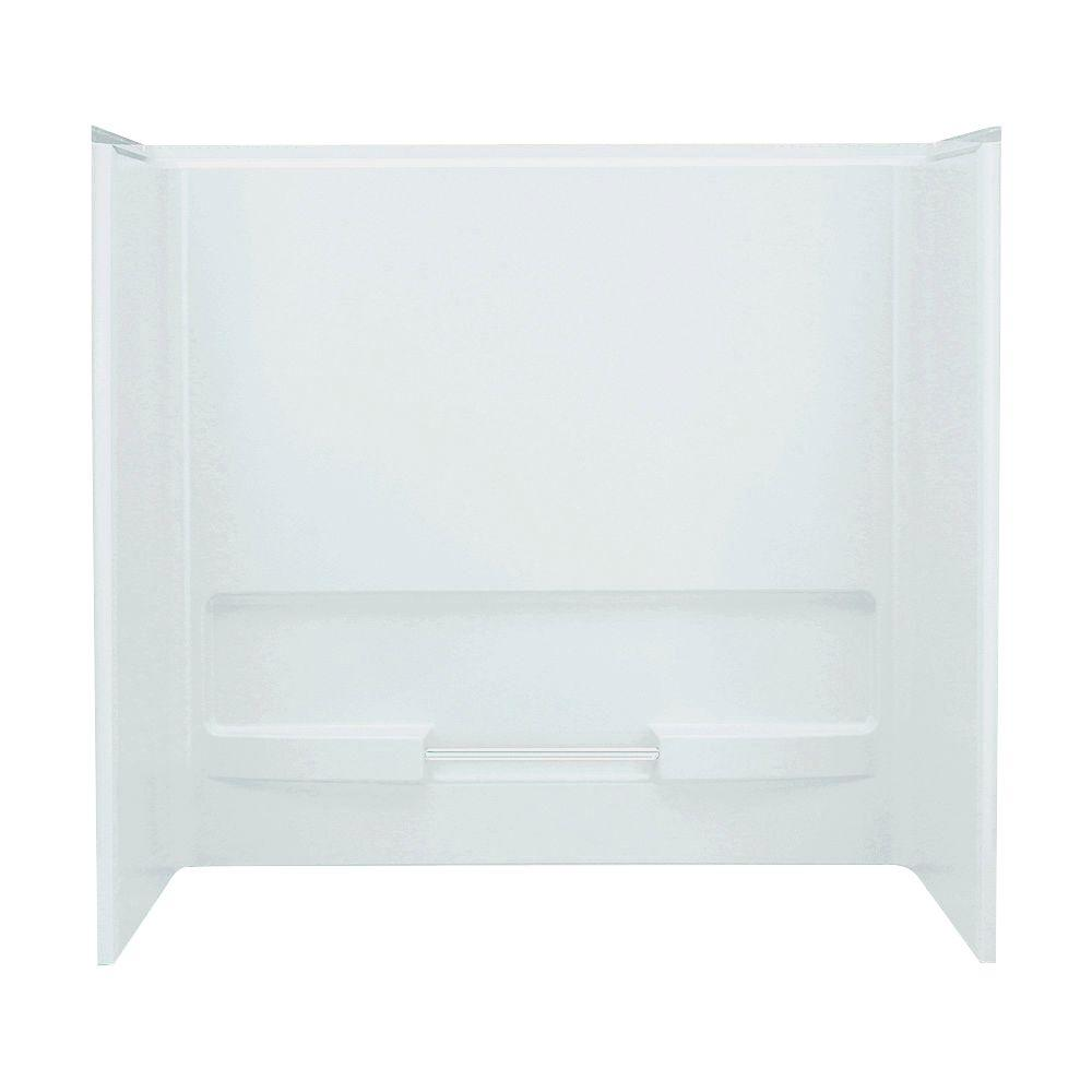 STERLING Advantage 30 in. x 60 in. x 56-1/4 in. 3-piece Direct-to-Stud Wall Set Backer in White