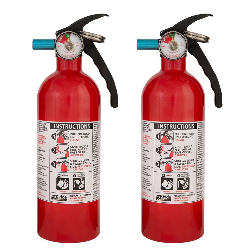 Kidde 1 A 10 B C Recreational Fire Extinguisher 2 Pack