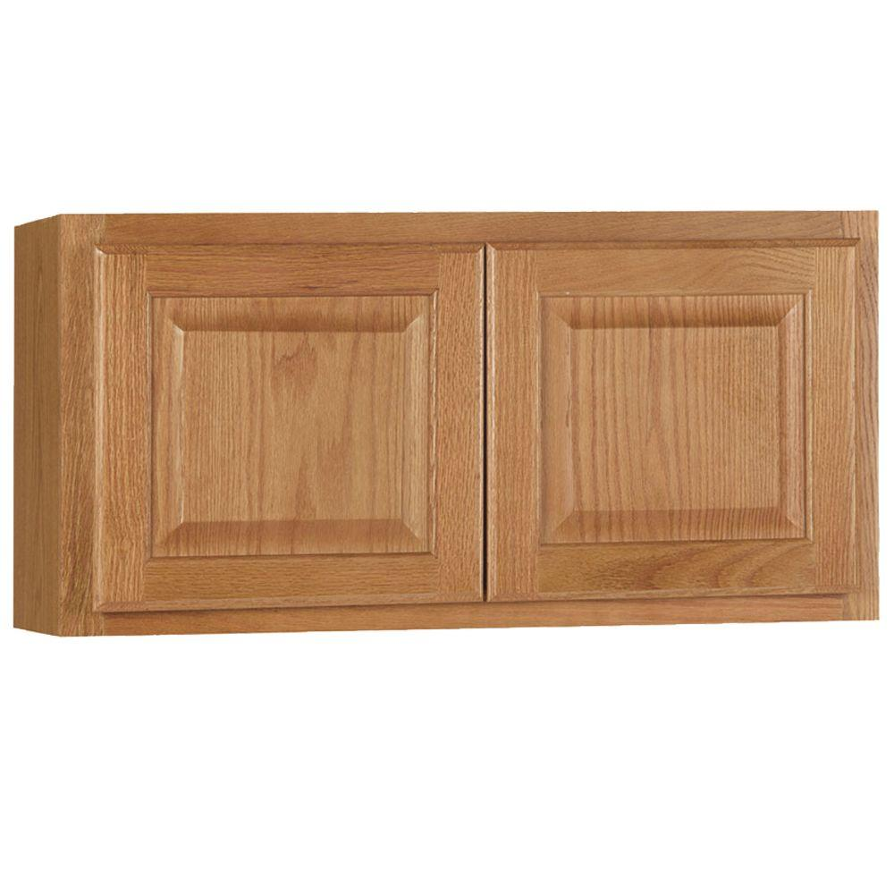 Superieur Hampton Bay Hampton Assembled 30x15x12 In. Wall Bridge Kitchen Cabinet In  Medium Oak