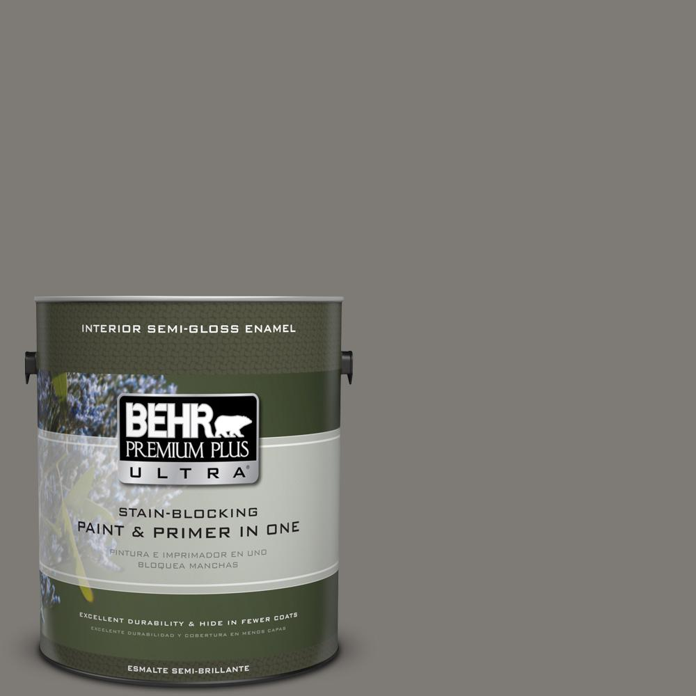 1 gal. #PPU24-21 Greyhound Semi-Gloss Enamel Interior Paint