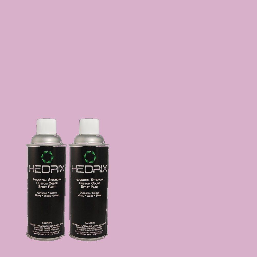 Hedrix 11 oz. Match of 1A32-3 Rose Purple Low Lustre Custom Spray Paint (2-Pack)