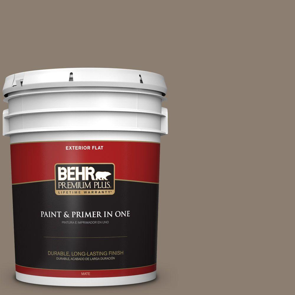5-gal. #BNC-36 Restful Brown Flat Exterior Paint