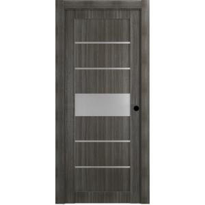 online store 42765 420c4 Belldinni 32 in. x 80 in. Siah Gray Oak Left-Hand Solid Core Composite  5-Lite Frosted Glass Single Prehung Interior Door-114357 - The Home Depot