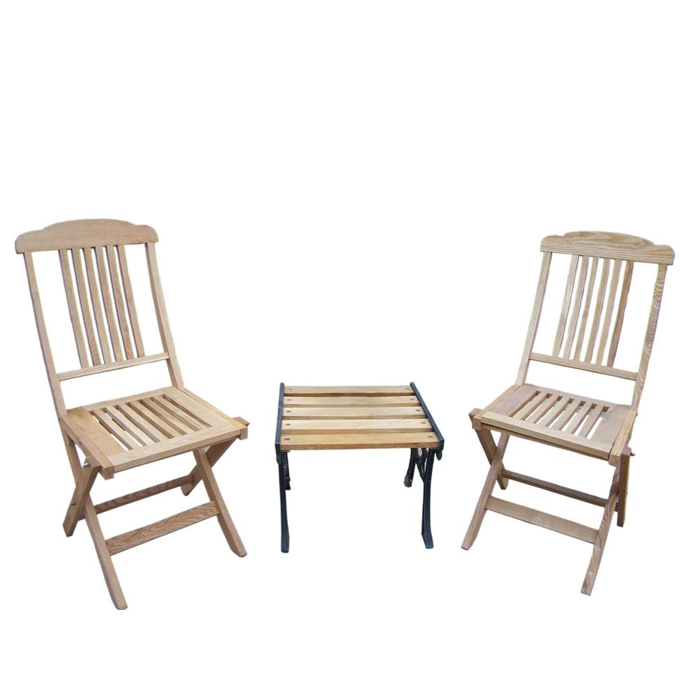 3-Piece Wood Outdoor Bistro Set