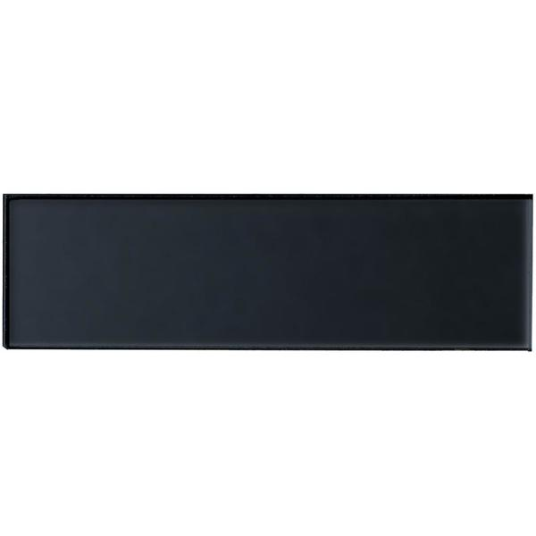 Forever Royal Gray Field 4 in. x 16 in. Metallic Matte Glass Wall Tile (9-Pack)