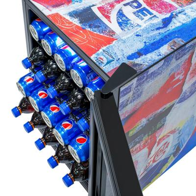 Special Edition 17 in. 90 (12 oz) Can Freestanding Beverage Cooler Fridge and Chills Down to Icy 34° - Pepsi Rewind