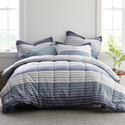 Greer Stripe Cotton Percale Comforter