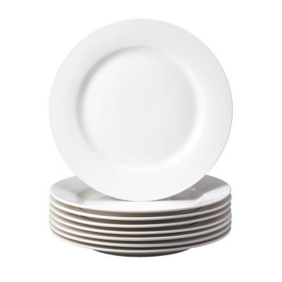 Basic White Stoneware Salad Plate (Set Of 8)
