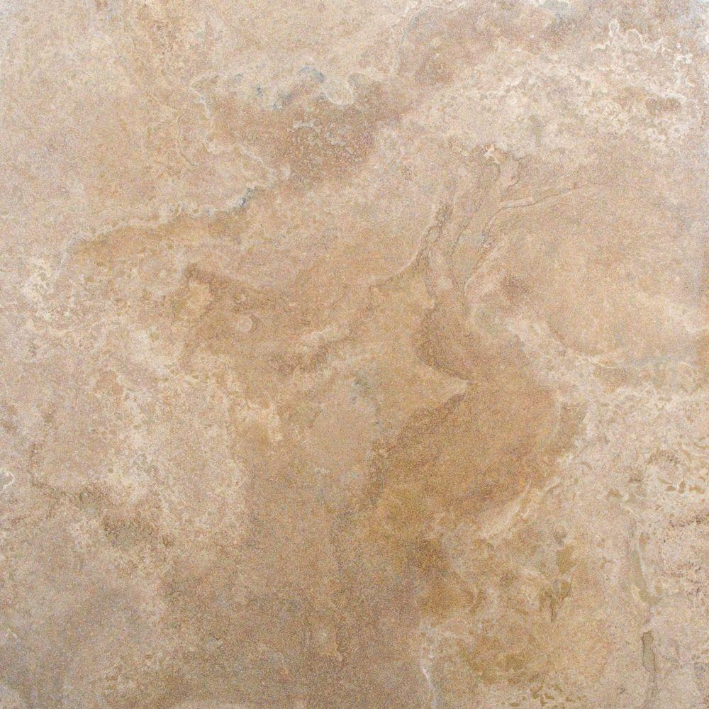 Msi tuscany beige 18 in x 18 in honed travertine floor and wall honed travertine floor and wall tile ttbei1818 the home depot dailygadgetfo Gallery