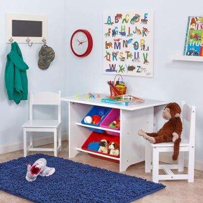 6-Piece White Children's Table and Chair Set
