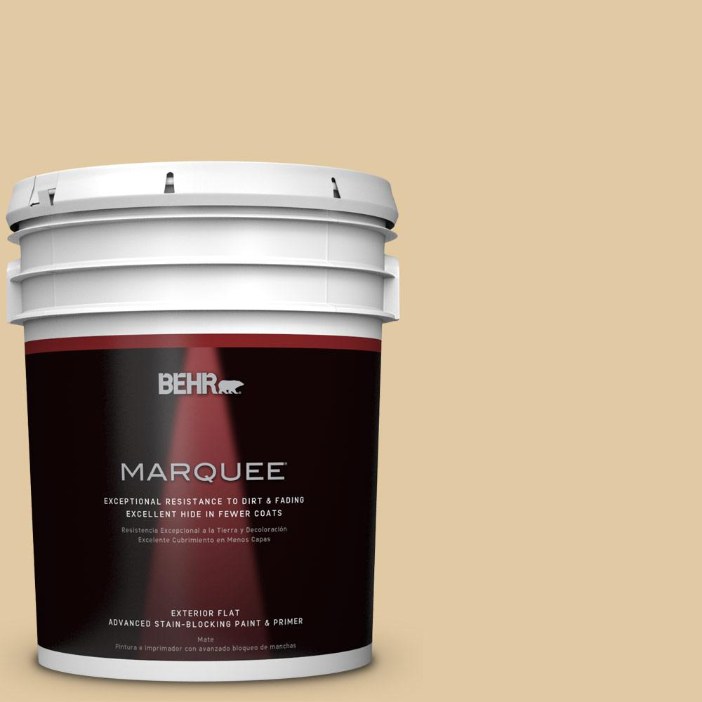 BEHR MARQUEE 5-gal. #PPU7-19 Crepe Flat Exterior Paint