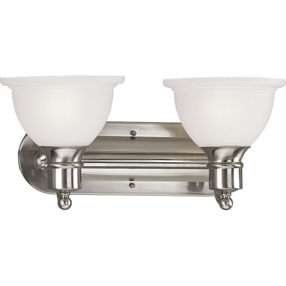Progress Lighting Madison Collection 2 Light Brushed Nickel Bath