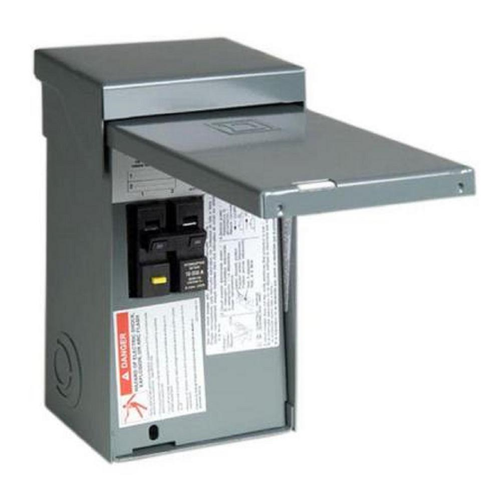 Square D Homeline 50 Amp 2-Space 4-Circuit Spa Panel Main Lug Load