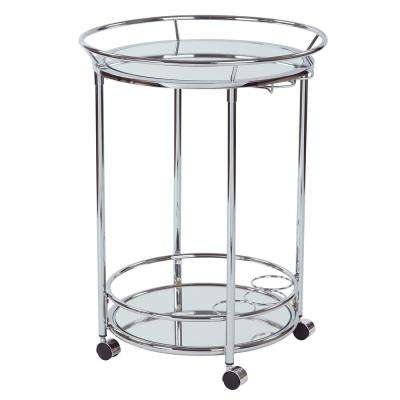 Royse Chrome Serving Cart