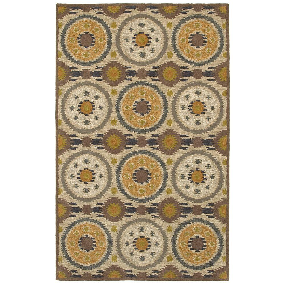 LR Resources Allure Beige 5 ft. x 7 ft. 9 in. Luxury Indoor Area Rug