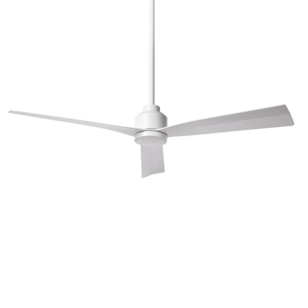 Clean 52 in. Indoor/Outdoor Matte White 3-Blade Smart Compatible Ceiling Fan with Remote Control