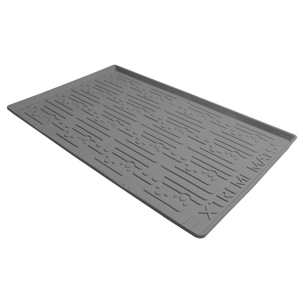 XtremeMats Xtreme Mats 27-5/8 in. x 21-7/8 in. Grey Kitchen Depth Under Sink Cabinet Mat Drip Tray Shelf Liner