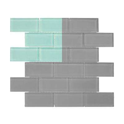 Tiffany May 3 in. x 6 in. x 8 mm Glass Mosaic Tile Sample