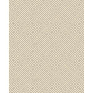 Jones, Omega Taupe Geometric Paper Strippable Wallpaper Roll (Covers 56.4 sq. ft.)