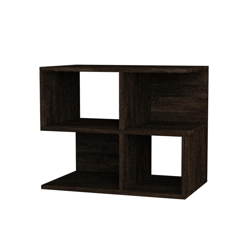 Ada Home Decor Sharon Dark Brown Modern Side Table DCRS2002