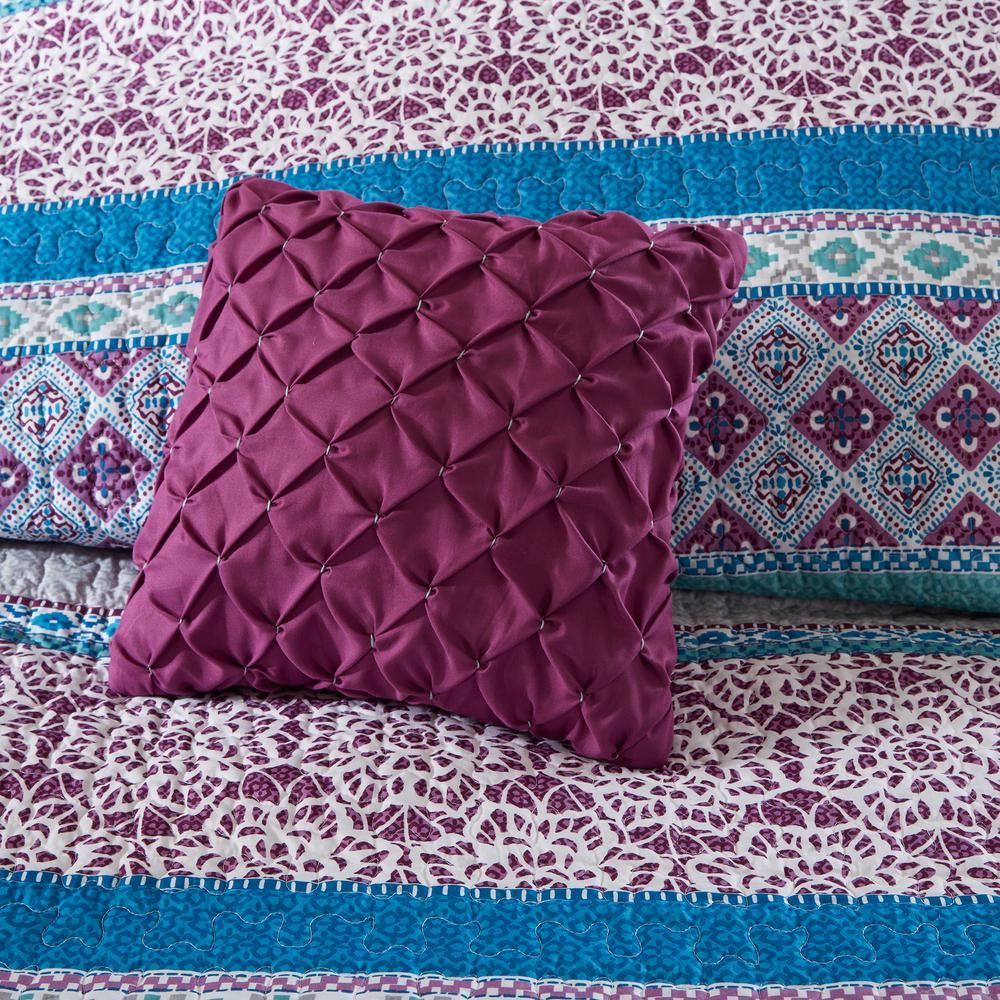 Adley Purple Boho Coverlet Set
