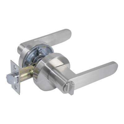 Sevilla Premium Satin Nickel Privacy Bed/Bath Door Lever