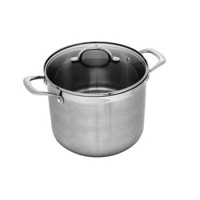 Premium Steel 8 Qt. Stock Pot with Lid