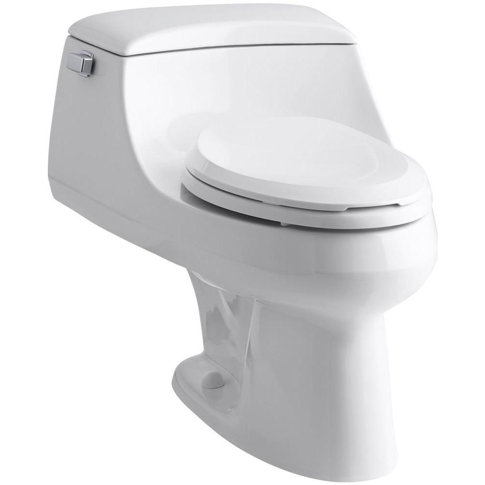 KOHLER San Raphael 1-piece 1.6 GPF Single Flush Elongated Toilet in White