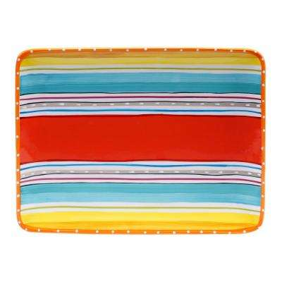Mariachi Multi-Colored Rectangular Platter