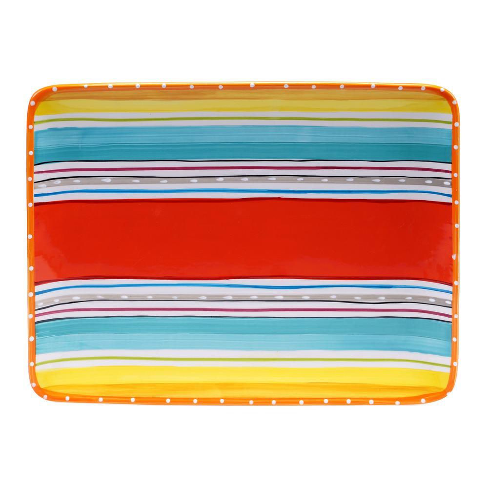 Mariachi Multi-Colored Rectangular Platter
