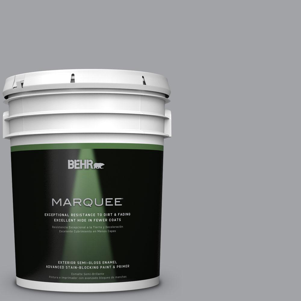 5-gal. #N530-4 Power Gray Semi-Gloss Enamel Exterior Paint