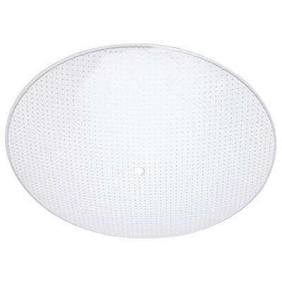 13 in. Round Glass Diffuser Clear Dot Pattern with 1-1/4 in. Depth