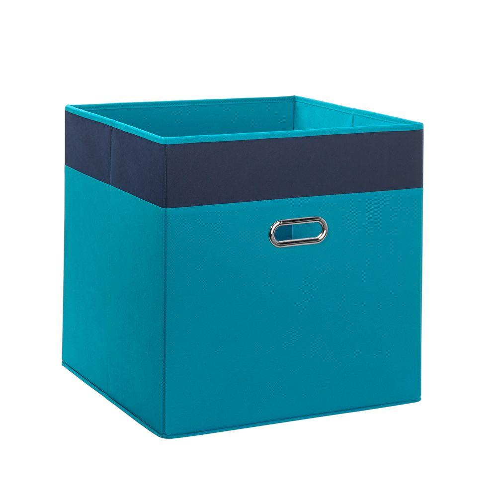 Riverridge kids 16 in x 16 in 2 tone folding jumbo for Turquoise bathroom bin